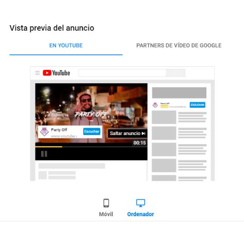 Google Ads - ejemplos de campañas en Youtube