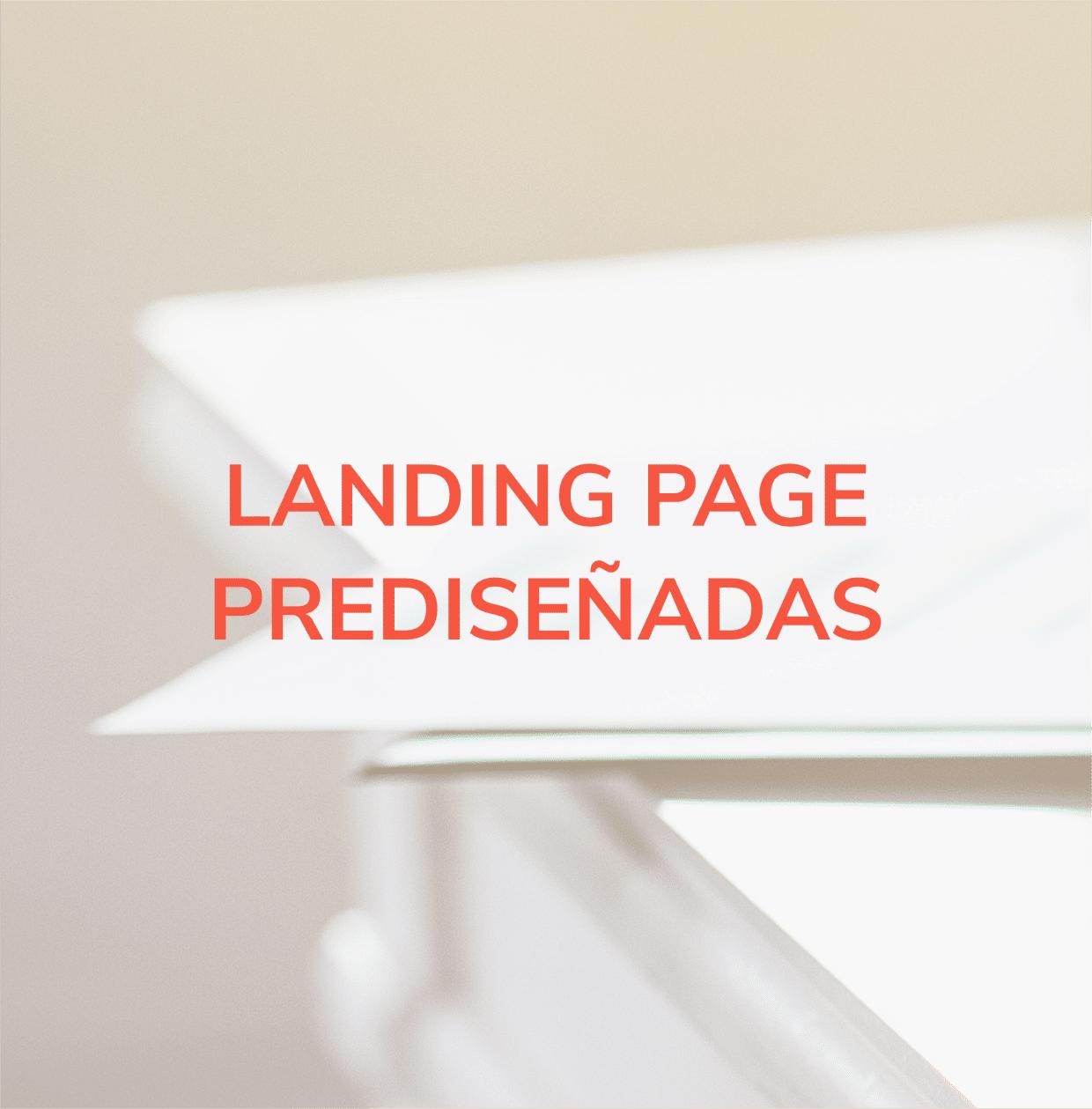 Diseño web tipo landing prediseñada