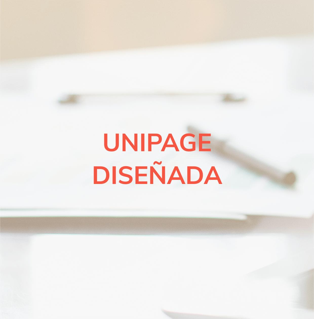 Diseño de página web tipo Unipage