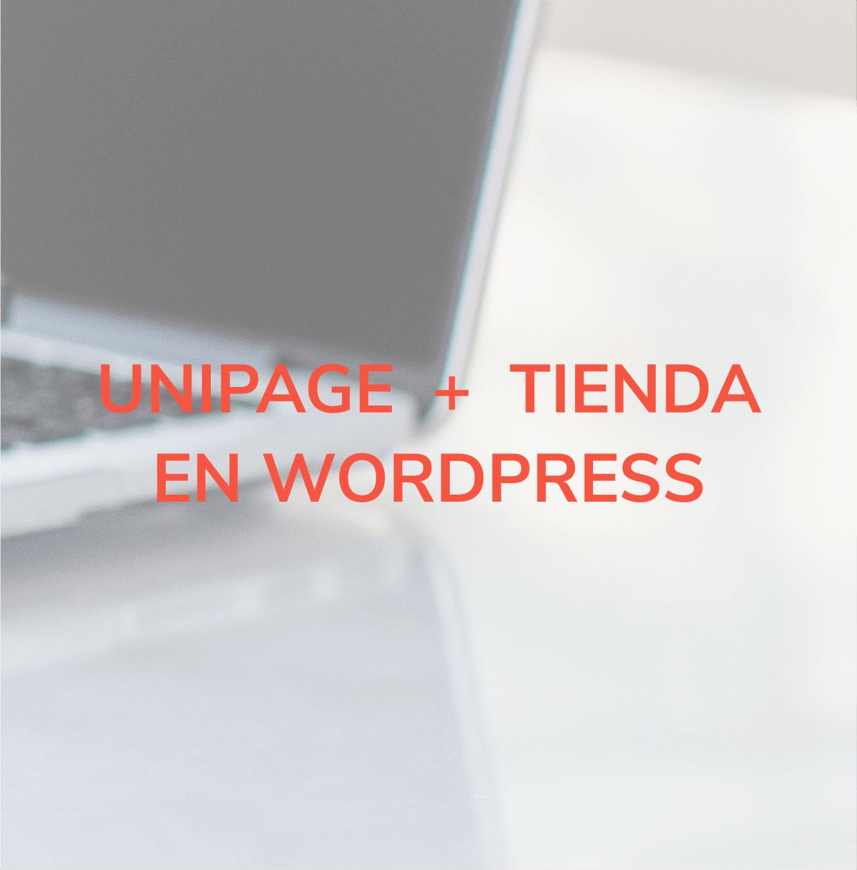 Web tipo Unipage + tienda