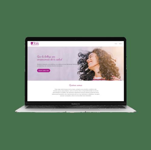 ejemplo página web estética tais