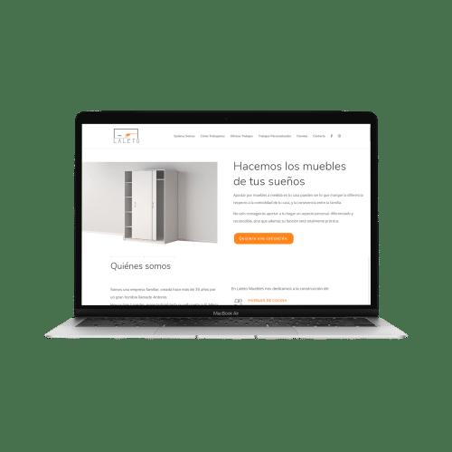 ejemplo página web laleto muebles