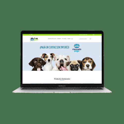 ejemplo página web city pets
