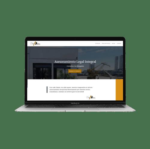 ejemplo página web martinese y asociados