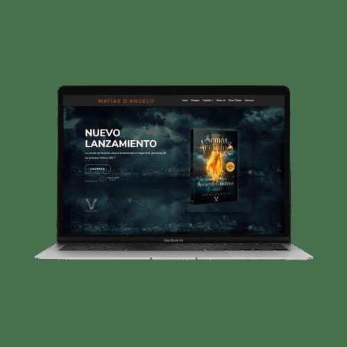 modelo página web matias dangelo