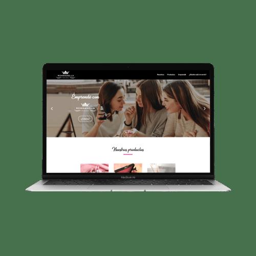 modelo página web fragancias rommanella