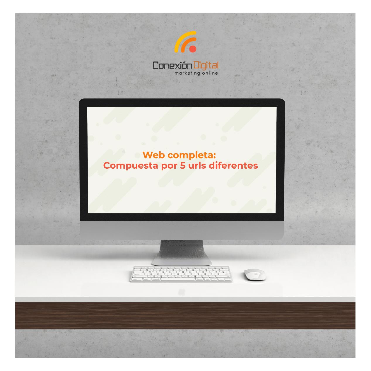 Diseño Web: Web Completa compuesta por 5 URLs